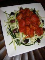 "Guiltless ""Pasta"" with Sausage Marinara"