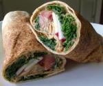 Kidney Bean Hummus and Kale Wrap