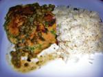 "Match ""Chicken"" Piccata with Basmati Rice"
