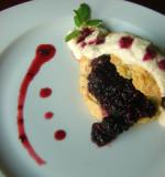 Blackberry-Mint Shortcakes with Almond Cream