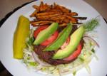 Deconstructed Cajun Black Bean Burgers with Sweet Potato Oven Fries