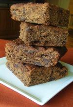 Double Chocolate Pumpkin Brownies {Gluten-free}