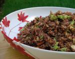 Warm Red Jasmine Rice and Broccoli Salad