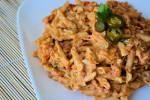 Spicy Tomato Alfredo Pasta {Tex-Mex Style}