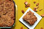 Vegan Breakfast Rhubarb Coffee Cake