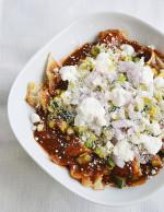 Veggie Chilaquilés with Molé Sauce
