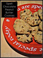 Spelt Choco-Peanut Butter Cookies + GIVEAWAY