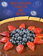 Progressively Perfect: Dark Chocolate Cream Pie with Berries