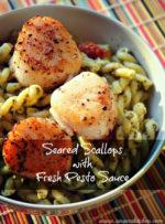 Carlow Cookery: Seared Scallops with Fresh Pesto Sauce
