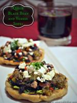Quick Black Bean and Veggie Sopes #MasecaNosGusta