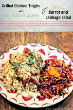 Grilled Chicken Thighs with Basil Garlic Vinaigrette