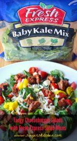 Tangy Cheeseburger Salads with Fresh Express Salad Mixes
