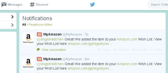 Amazon on Twitter