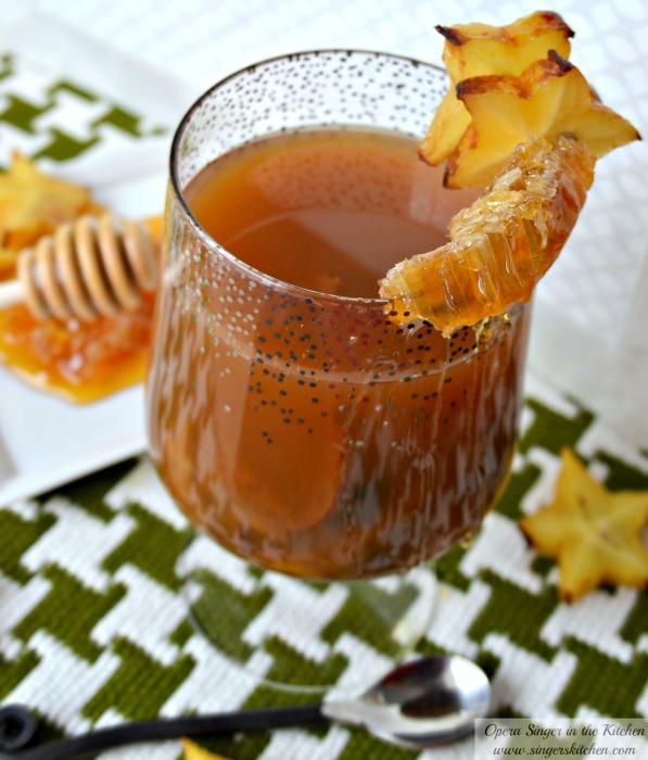 Spiked Honey Spiced Cider Punch  -1 #HoneyForHolidays #DonVictor #shop