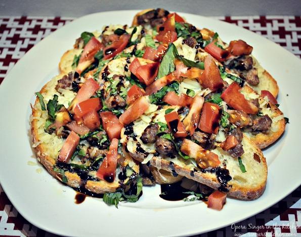 Sausage Bruschetta Nachos