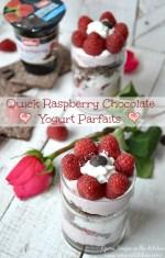 Quick Raspberry Chocolate Yogurt Parfaits with new Müller® Ice Cream Inspired Yogurt