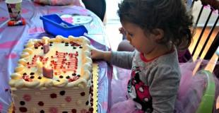 Birthday Girl and Cake 1