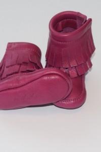 Pink Fringe Boots