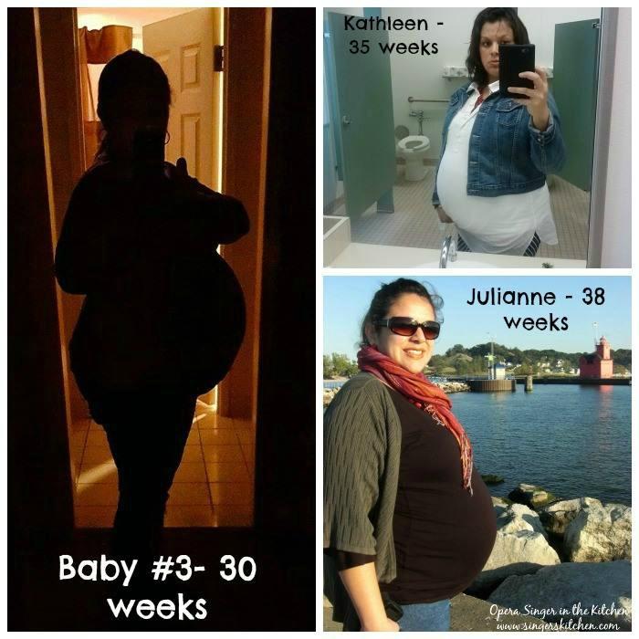 Three pregnancies collage