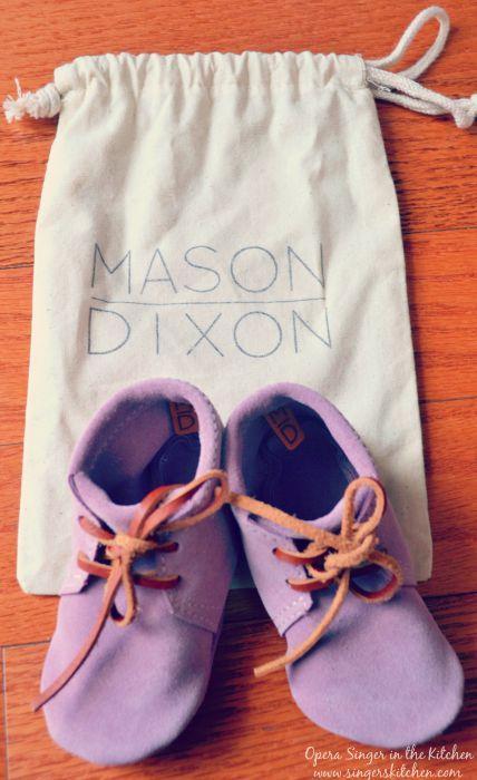 Mason Dixon Baby Booties with sachet
