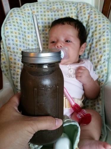 Organic India Tulsi tea in smoothie