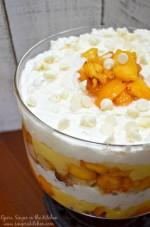Peaches and White Chocolate Cream Trifle