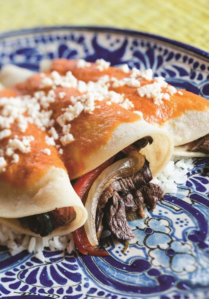 Bistec enchiladas