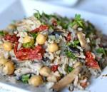 Quick Chickpea and Mushroom Rice Pilaf + Giveaway #VeeteeDineIn