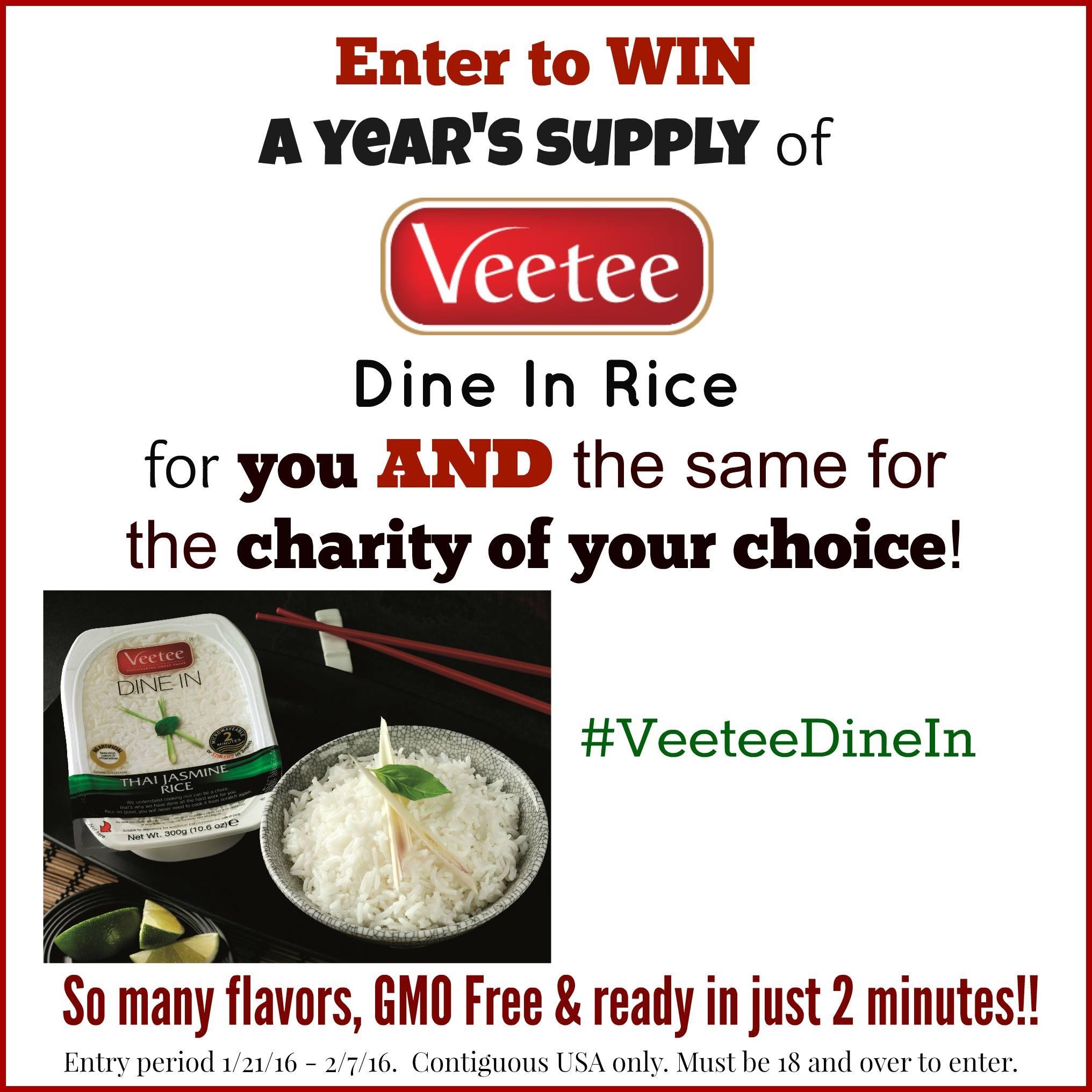 Veetee Giveaway
