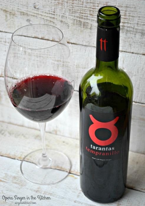 Tarantas Tempranillo served