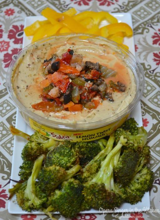 Mediterranean Giardiniera Topped Hummus #UnOfficialMeal