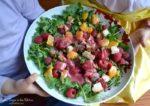 Chicken Raspberry Kale Salad