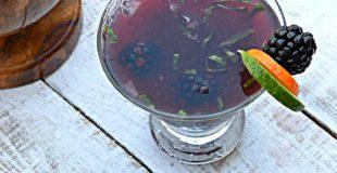 Blackberry Basil Rum Smash