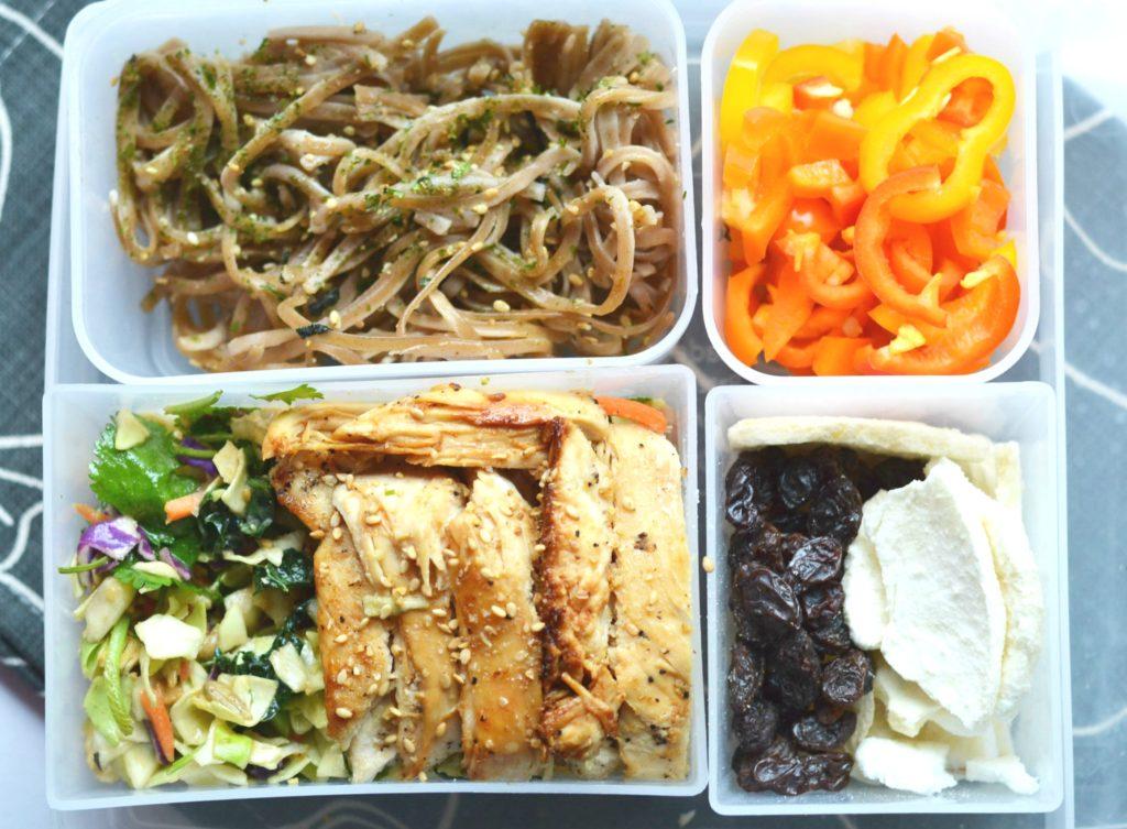Asian Chicken Cabbage Salad Bento Box Opera Singer In The Kitchen