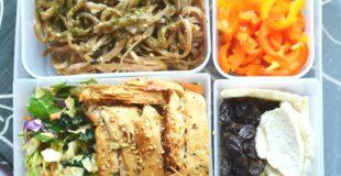 Asian Chicken Cabbage Salad + Bento Box