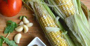 Skinny Sweet Corn Vegetable Flatbread