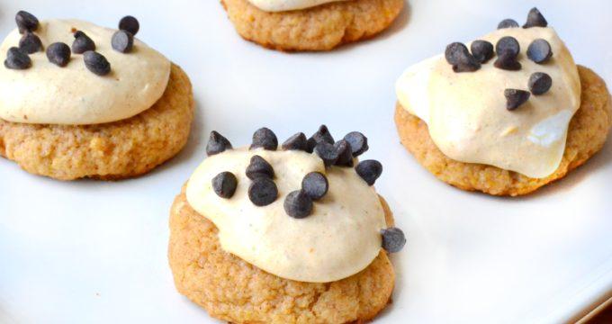 Cheesecake Iced Pumpkin Cookies + Krusteaz Giveaway