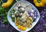 Savory Chicken Kebab Veggie Bowl